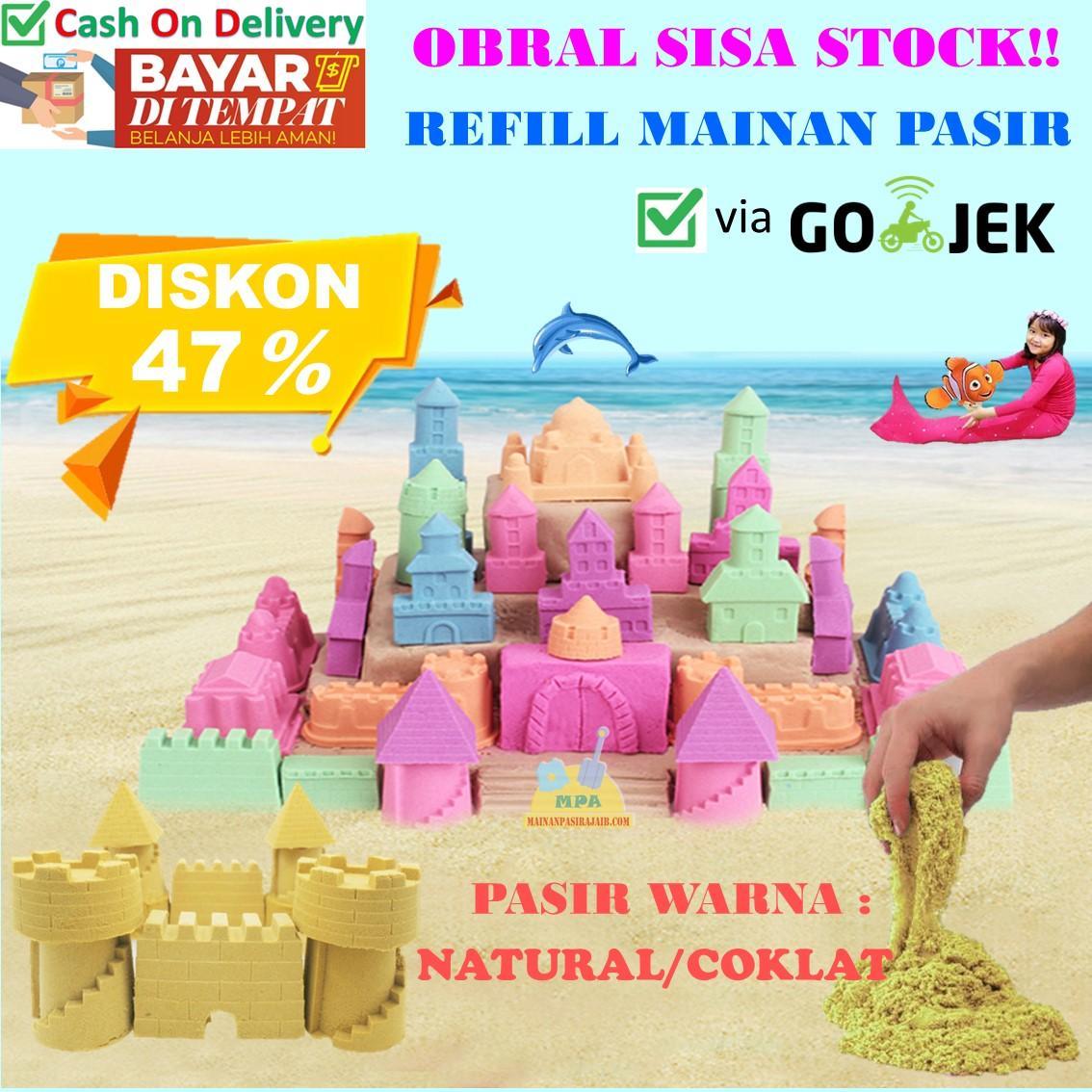 OBRAL Refill Mainan Pasir Ajaib Magic Play Sand 1 Kg