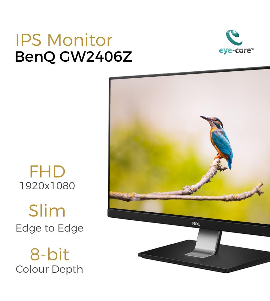 BenQ GW2406Z 24 inch Full HD HDMI IPS Entertainment Eye Care Monitor