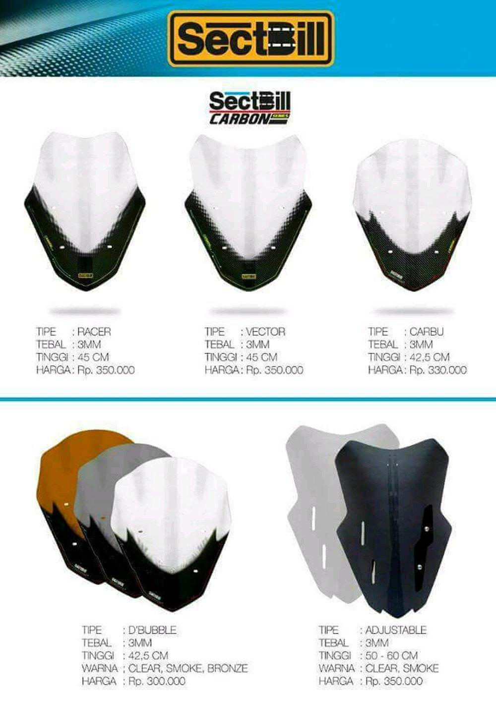 Fitur Sectbill Vector Carbon Windshield Yamaha Nmax Clear Dan Harga Winshield For 4