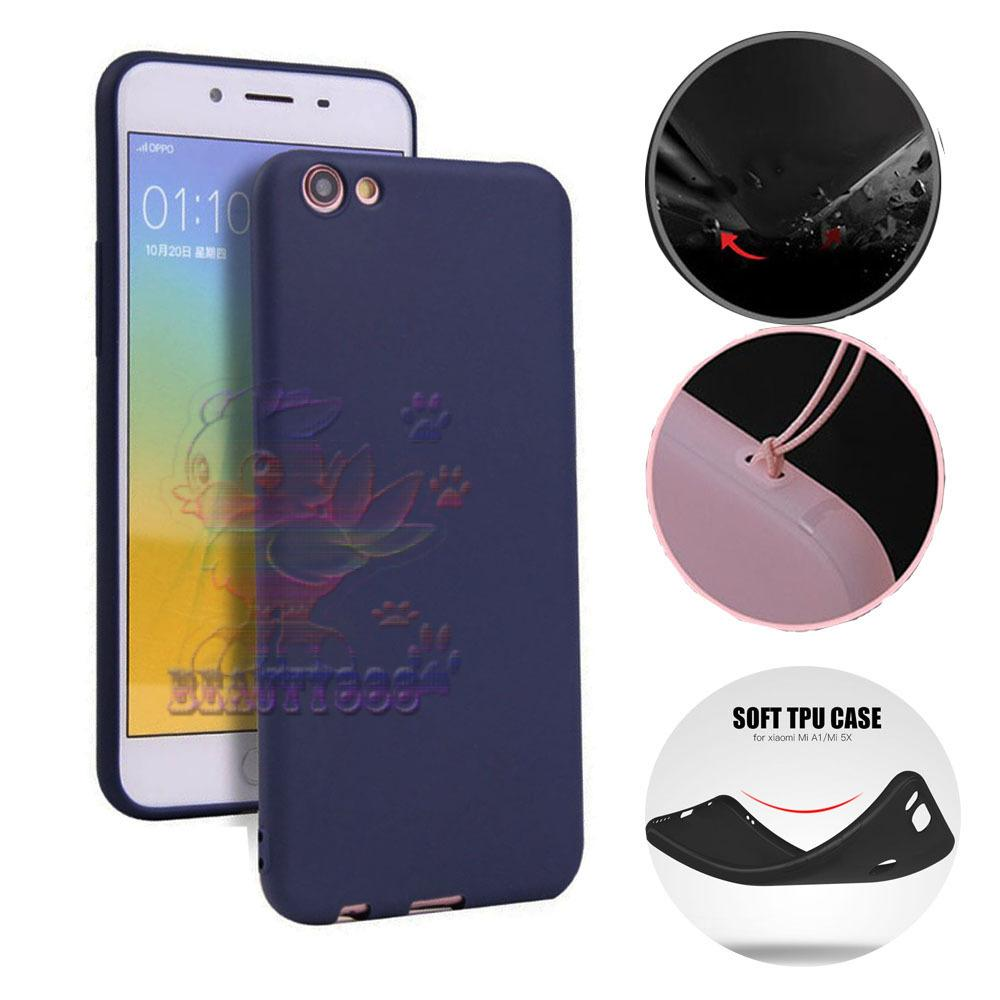 Lize Case Oppo A71 Rubber Silicone Anti Glare Skin Back Case / Silikon Oppo A71 / Jelly Case / Ultrathin / Soft Case Slim Blue Matte Oppo A71 / Casing Hp / Baby Skin Case - Navy / Biru Tua