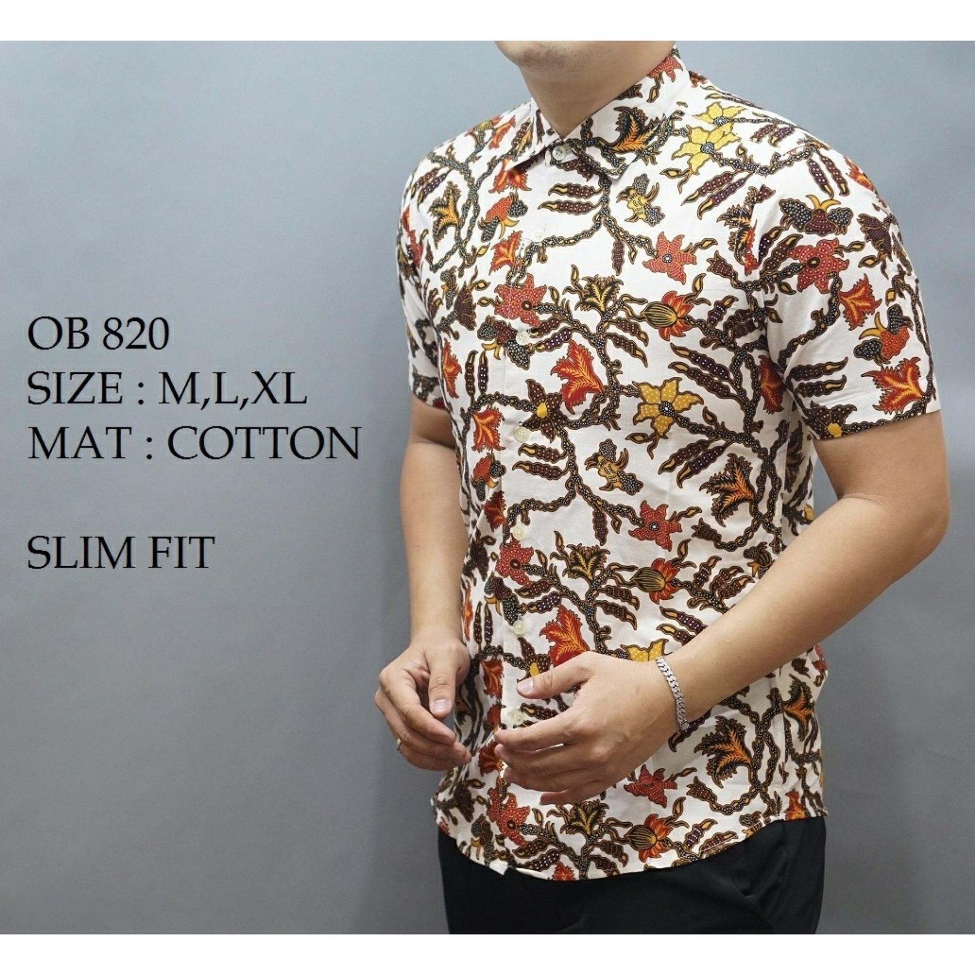Danar Hadi Kemeja Batik Pria Lengan Pendek Jingga Spec Dan Daftar Nulaba Sby Parang Urang Bajel Hitam 100 Cotton 1024097