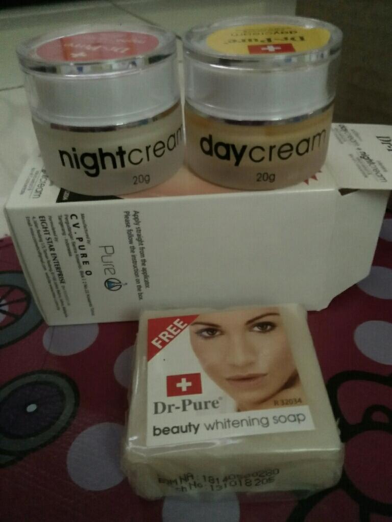 Dr Pure Paket Face Whitening Cream BPOM dan Sabun Perawatan Wajah Original Krim Pemutih Pencerah Alami Siang Malam - 3 Item   Lazada Indonesia