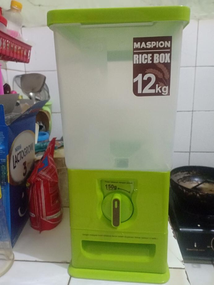 Maspion MRD-12 Rice Box Tempat Penyimpanan Beras Kapasitas 12 kg   Lazada Indonesia