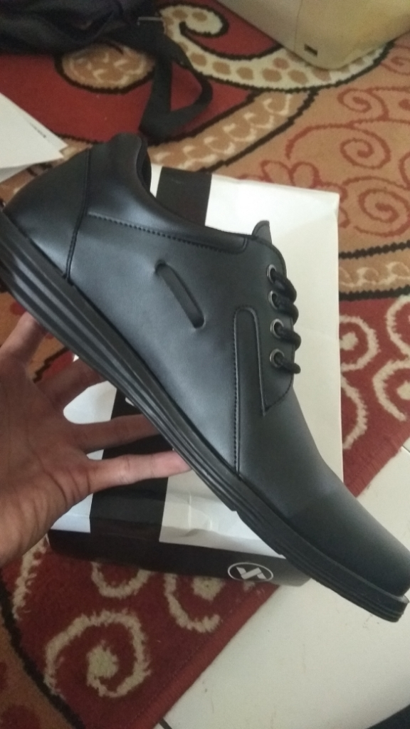 Sepatu VDB 446 Sepatu Formal Pantofel Pria Untuk Kerja dan Kantor Kulit  Sintetis - Hitam  22ad1e7711