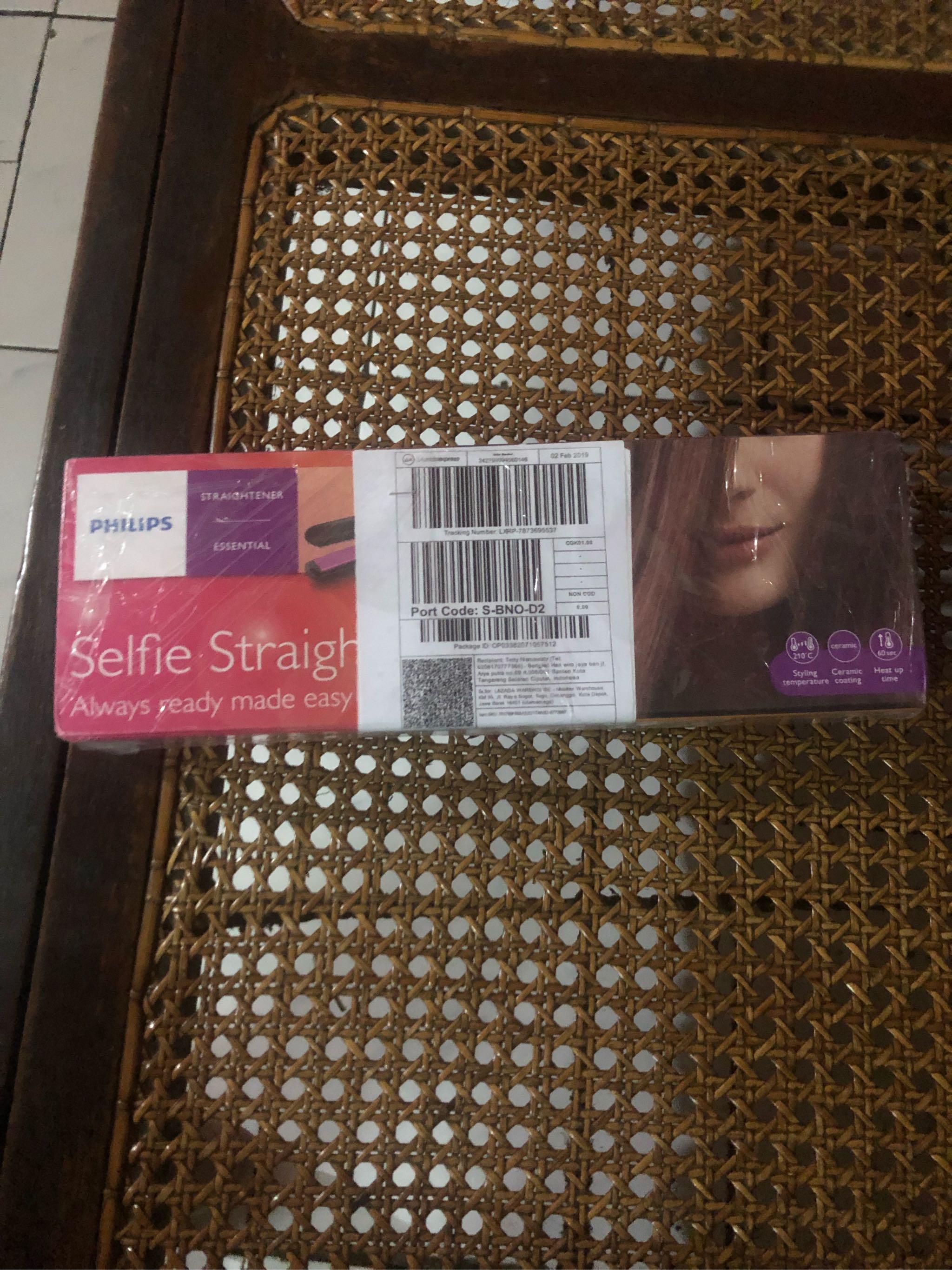 Philips HP 8302 00 Hair Straightener Alat Catok Rambut - Hitam Pink  d19933348f