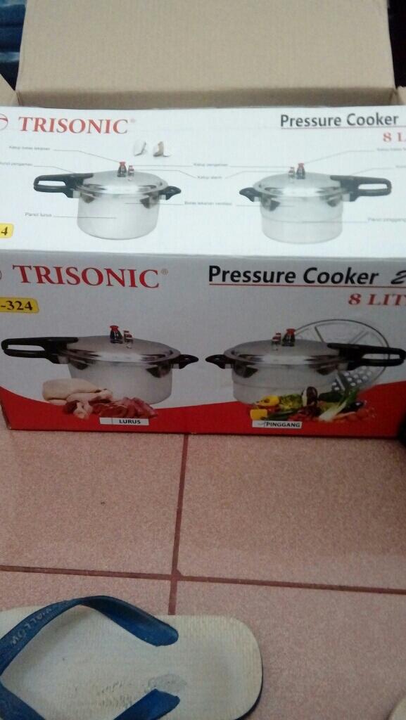Home-Klik Panci Presto Trisonic Preasure Cooker - 8 ...