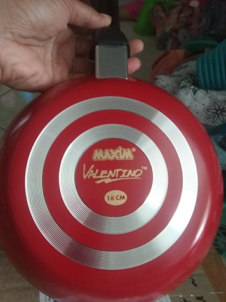 Maxim Valentino Frypan / Wajan Penggorengan Teflon 18 cm - Merah | Lazada Indonesia