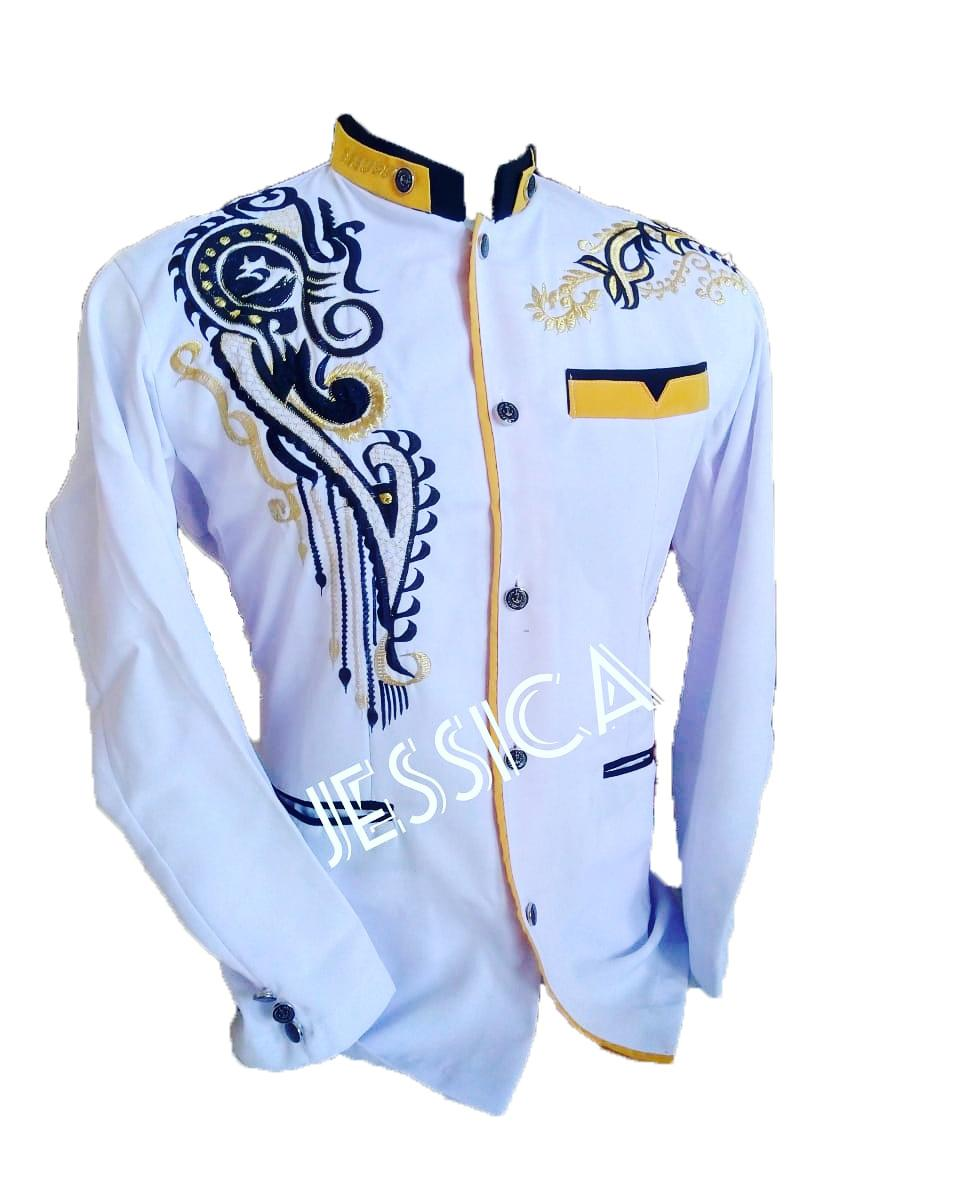 new diskon!!!promo!!! jasko bordir original real pict ready stok s m l xl putih lis kuning motif jsc