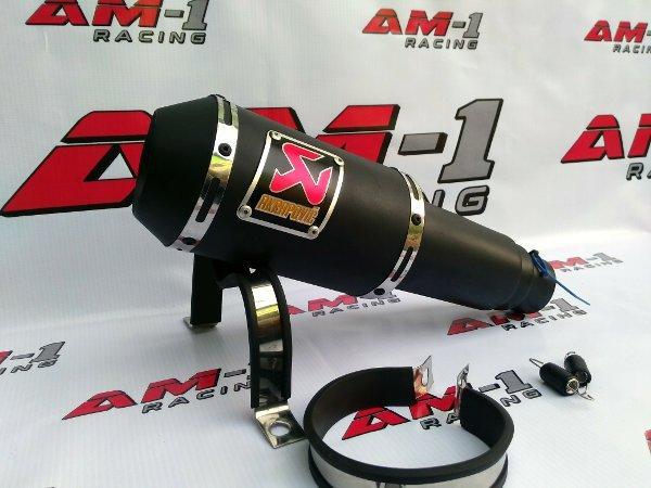 ... Knalpot Racing Akrapovic Gp M1 Lorenzo Black Doff Slip On All New Honda CB150R CB 150R