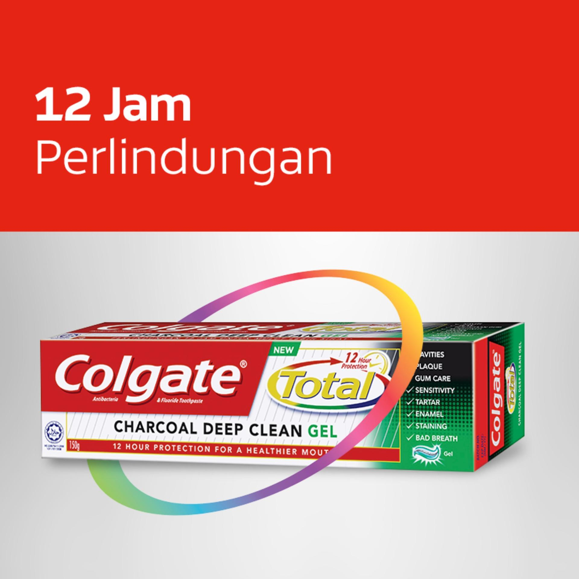 Colgate Total Charcoal Gel Toothpaste Pasta Gigi 150gr - Twin Pack - 2 . 2790cd1f96