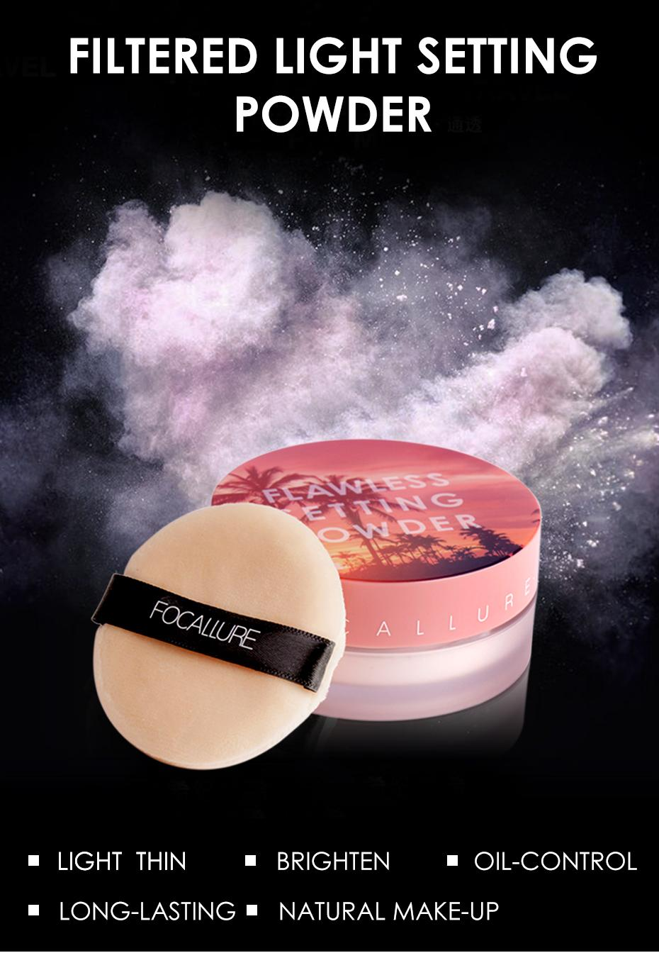 Detail Gambar Focallure New 2019 Trending Product Light Thin Best Best Makeup Setting Loose Translucent Powder With 4 Colors Terbaru