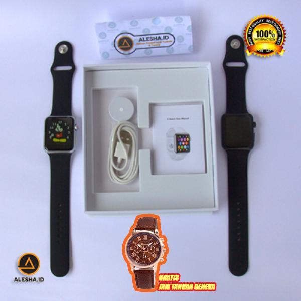 Jam Tangan Pintar Gratis Jam Tangan Geneva Import Terlaris / Smartwatch IWO 5 .