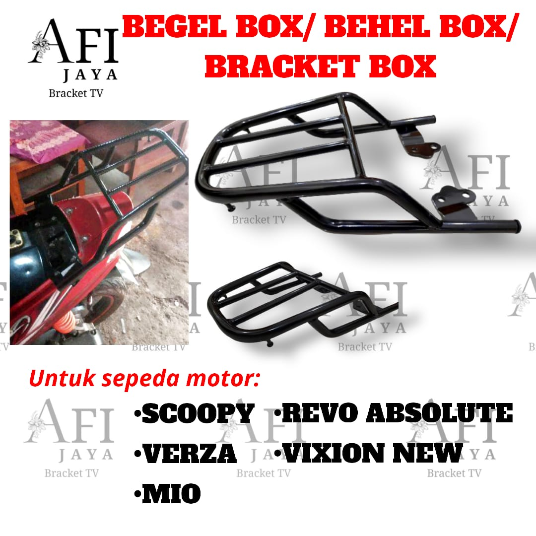 BEGEL BOX- BRACKET BOX- BEHEL BOX SCOOPY VERZA MIO REVO ABSOLUTE VIXION NEW