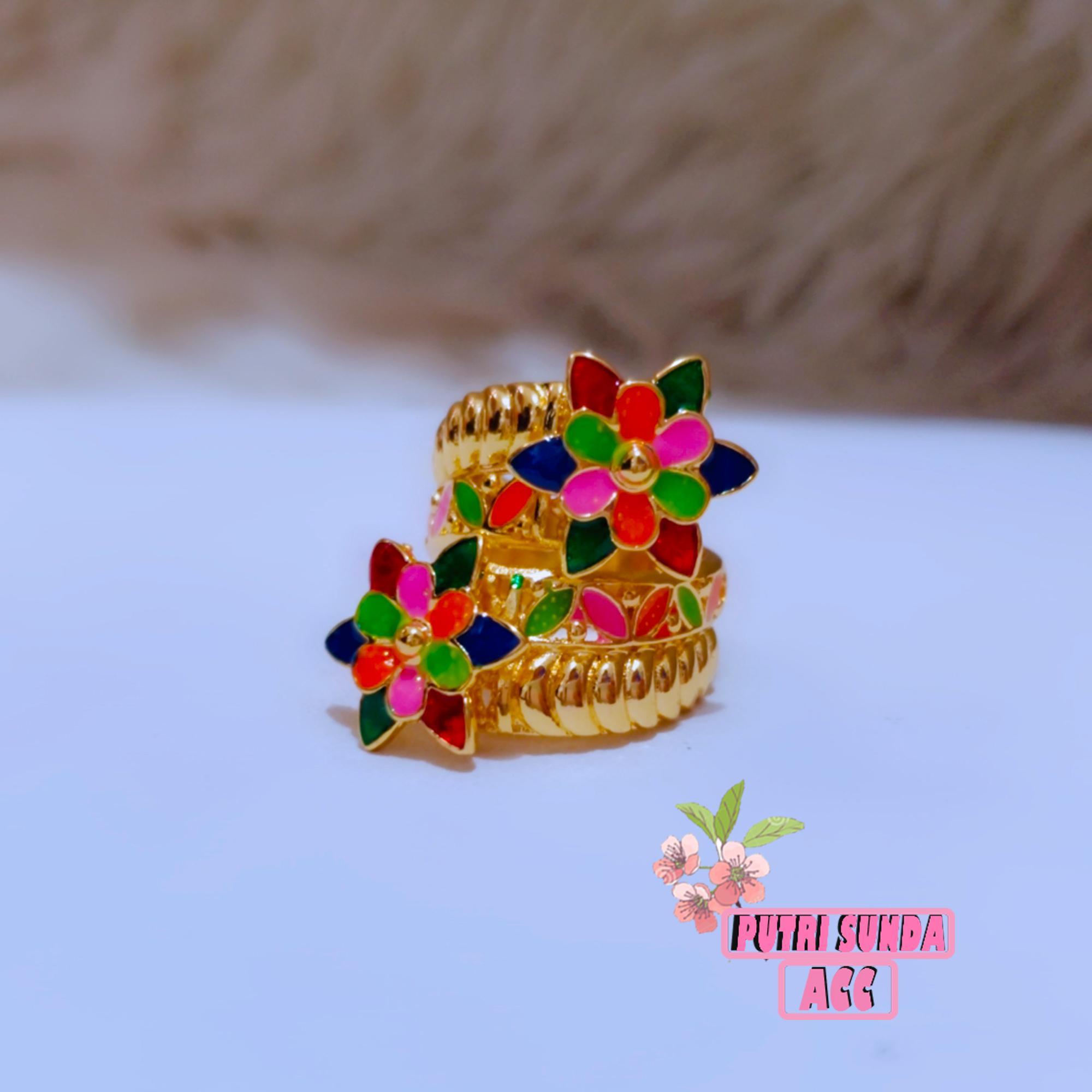 cincin dubai motif gold