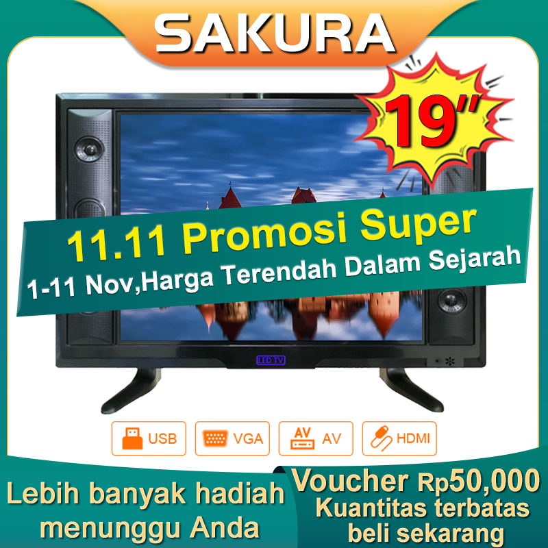 Sakura TV LED 19 inch HD Ready Televisi Murah (TCLG-S19E)