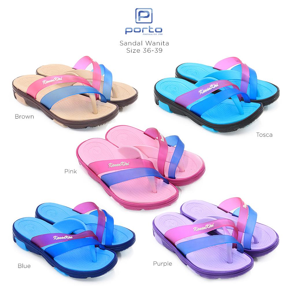 kanan-kiri sandal wanita paylon empuk  l7003 – purple size 36-40