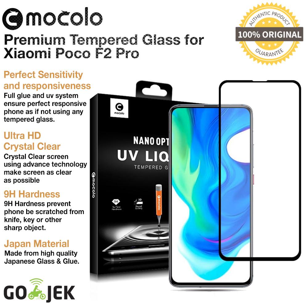 original mocolo full cover 3d tempered glass xiaomi poco f2 pro – antigores screen guard protector anti gores pelindung layar