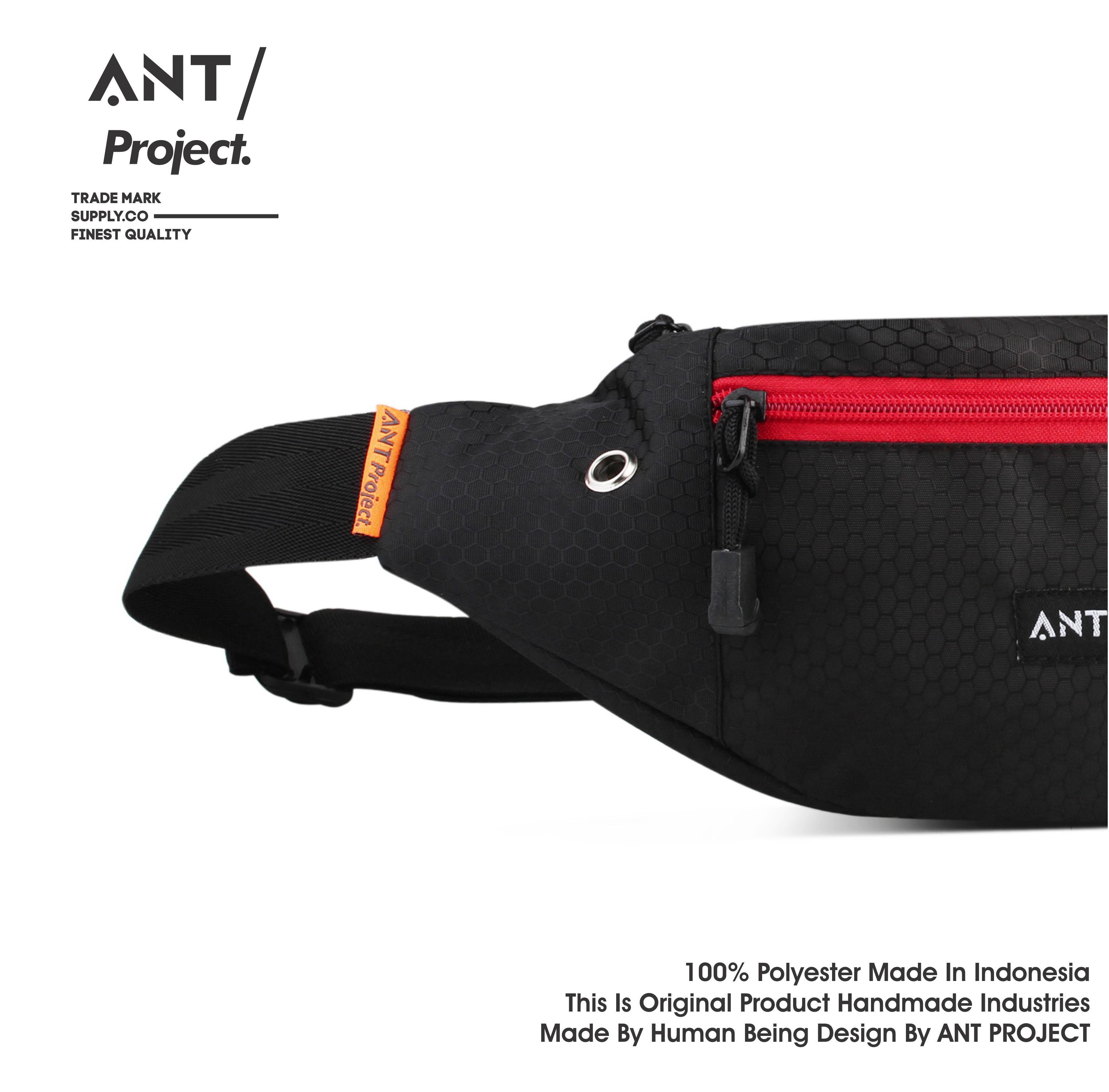 ant project – fashion tas selempang waist bag pria – tas pinggang – waistbag tas bahu – slingbag tas dada