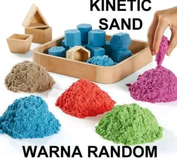 Detail Gambar Mainan Anak Pasir Ajaib Play Sand Refill 1 kg / Kinetic Sand In Moton Terbaru