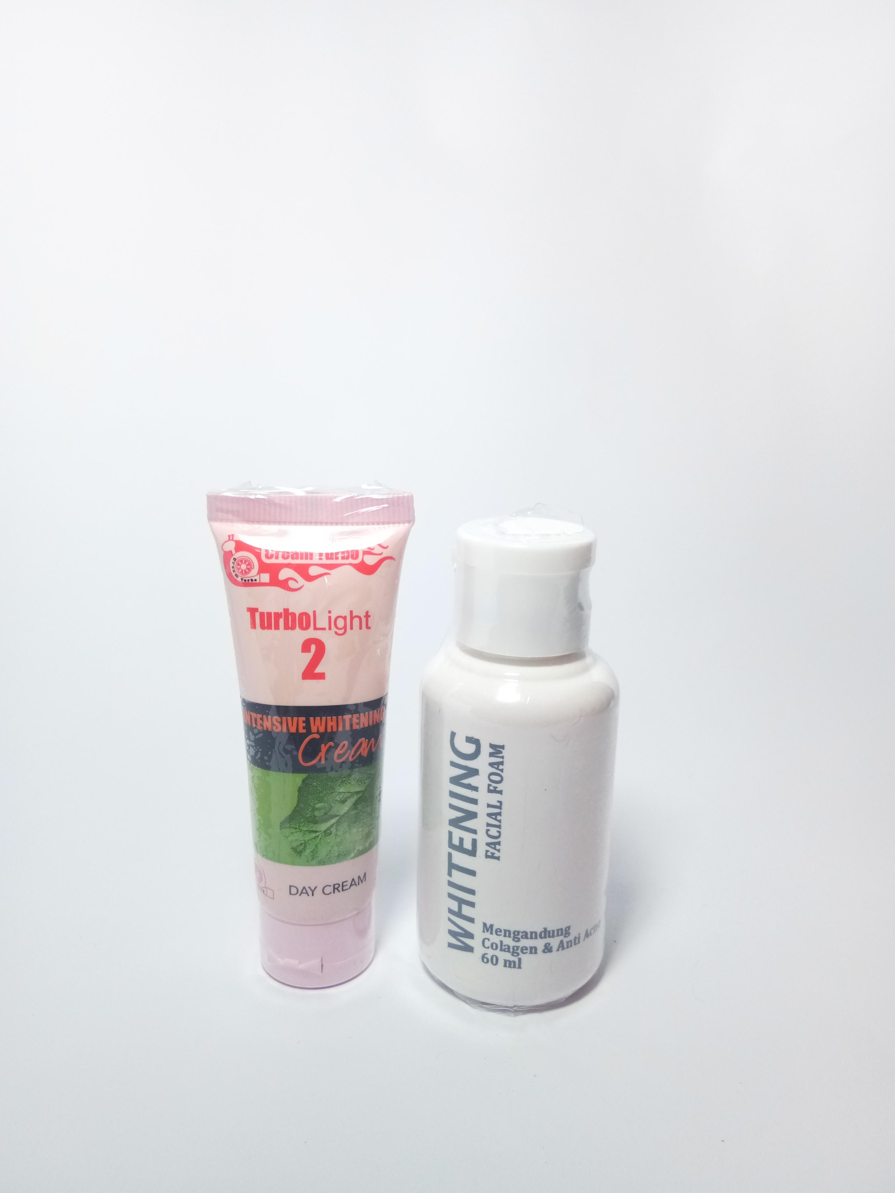 PAKET HEMAT TURBO CREAM DAY NO.2 PLUS SABUN 60 ML