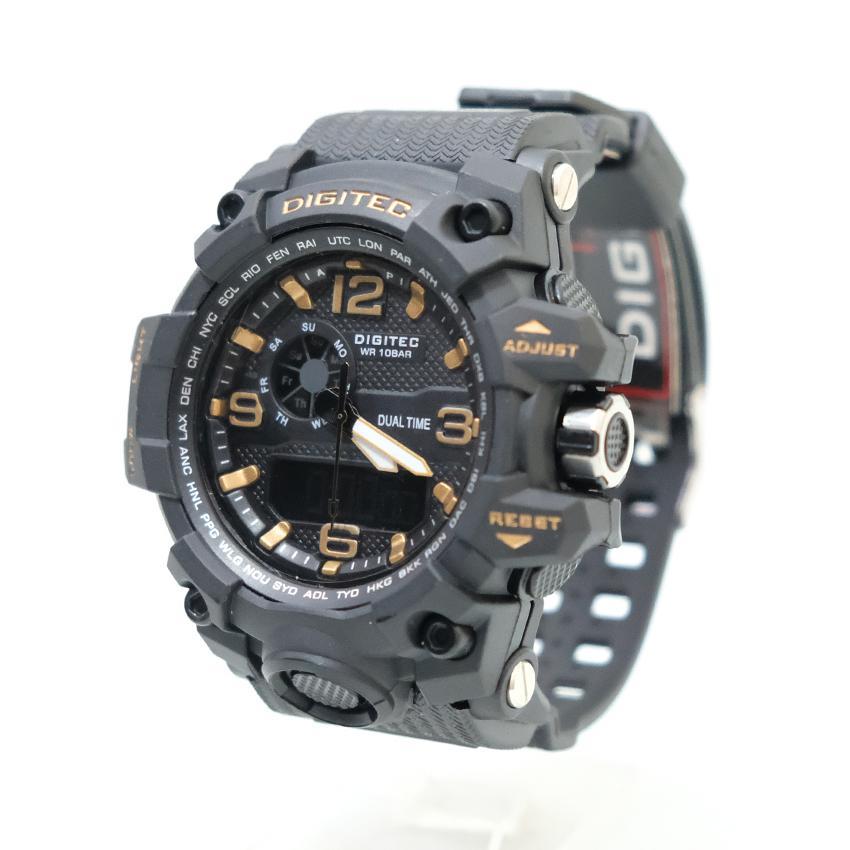 Jam Tangan Sport Dual Time Digital Watch 2093 Arloji Pria Tahan Benturan