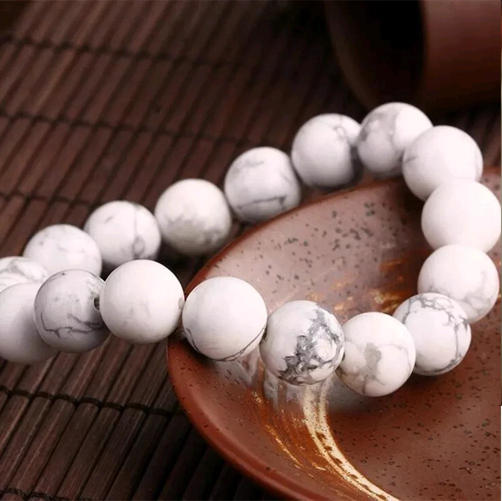 ... Gelang Batu Pirus Putih Diameter 10 Mm Top Quality - 3 ...