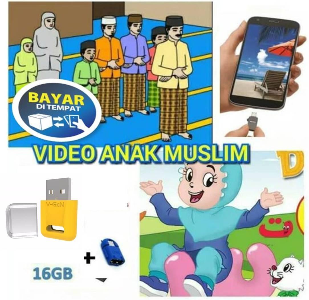 flashdisk video edukasi anak muslim 16 gb gratis otg – bisa cod