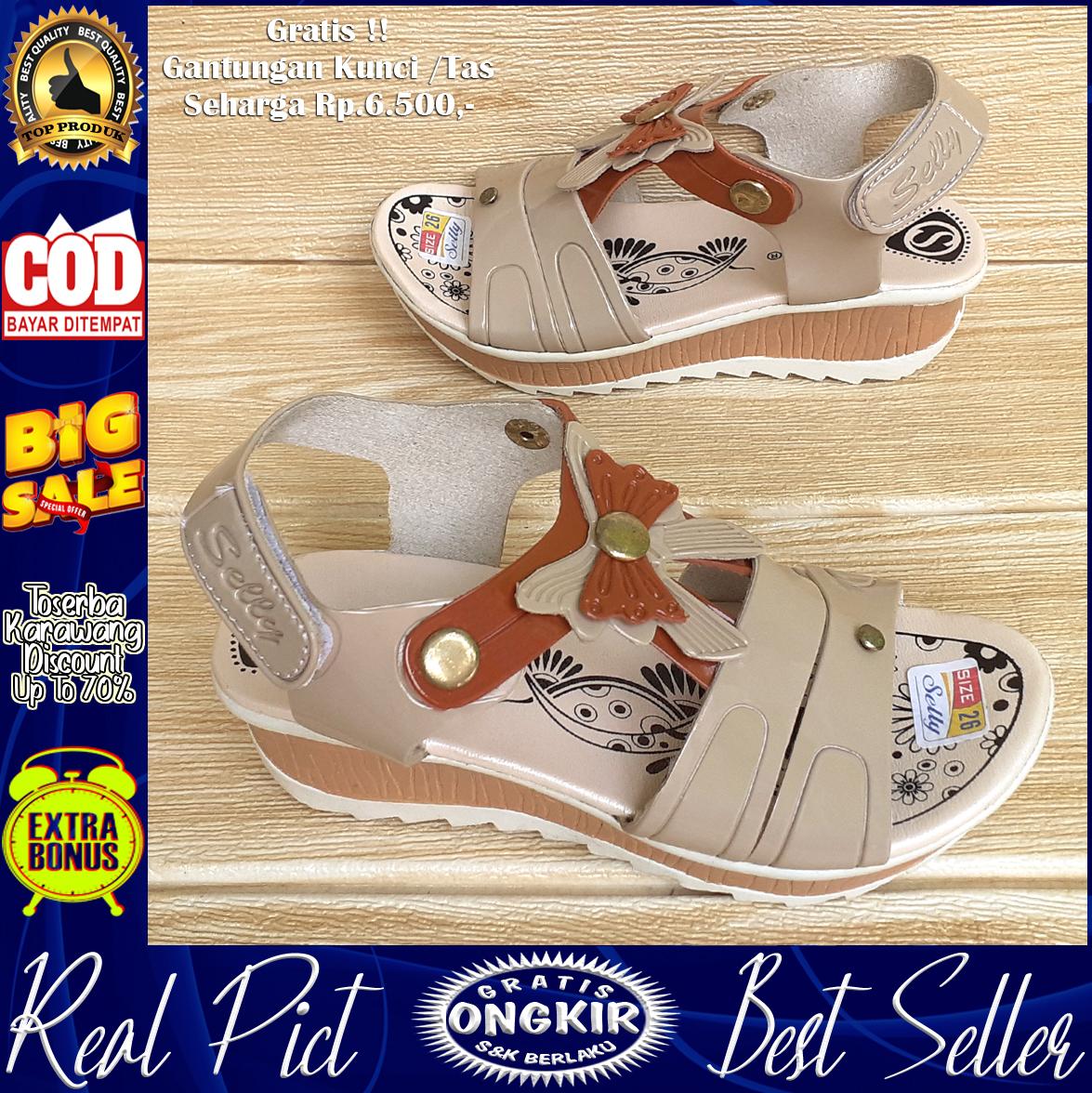 queena-sandal tali wedges anak perempuan wl101