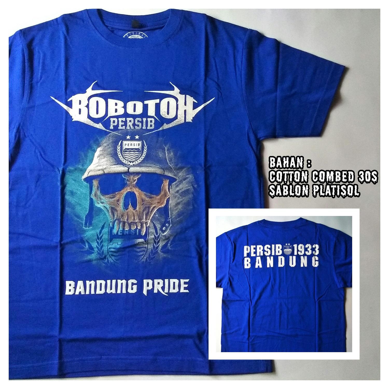 Kaos Baju Tshirt Pria Distro Persib Viking Bomber kasual Original Bobobtoh Metalhead - Bandung Pride /