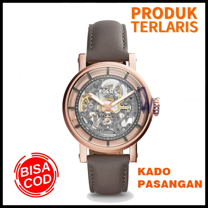 [cod] jam tangan wanita fossil original me3089 / me3089p fashion wanita anti air keren outdoor kado branded watch boyfriend automatic + tin box original