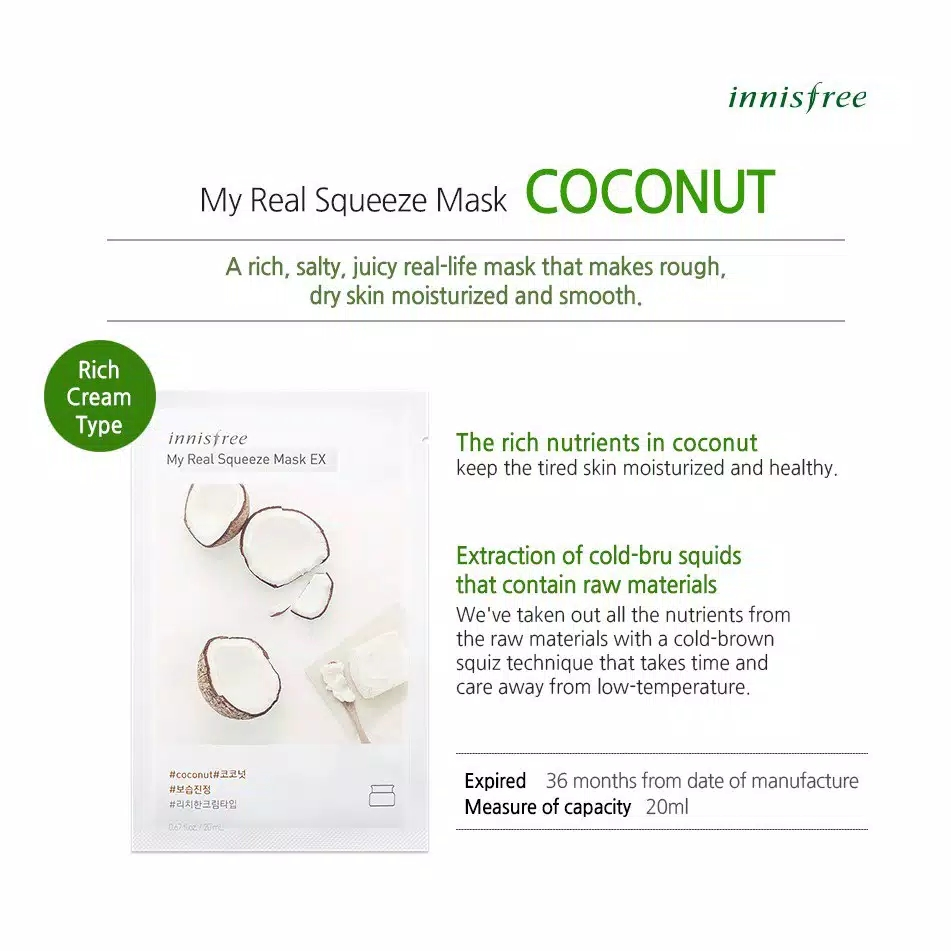 masker innisfree promo – innisfree my real squeeze sheet mask