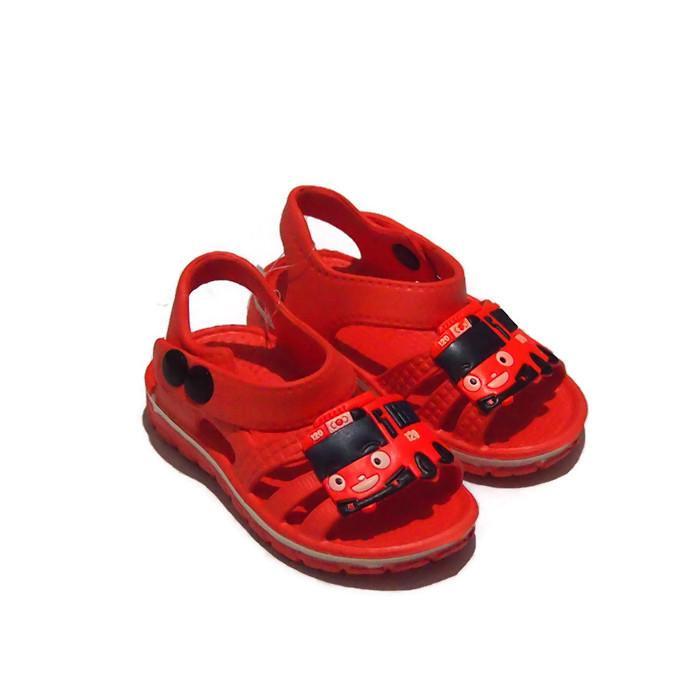 Sendal Sepatu Anak Karakter Tayo - Sepatu Sandal Karet Anak Laki-Laki  155E-TY Warna Random - 3