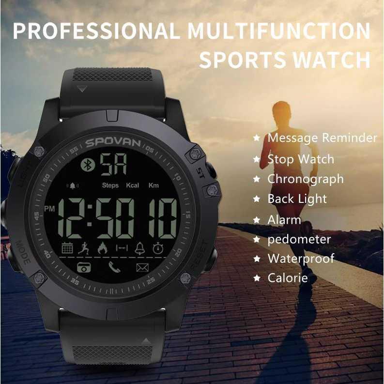 ... Spovan Jam Tangan Olahraga Smartwatch Bluetooth - PR1-1 Hitam - 3 ...
