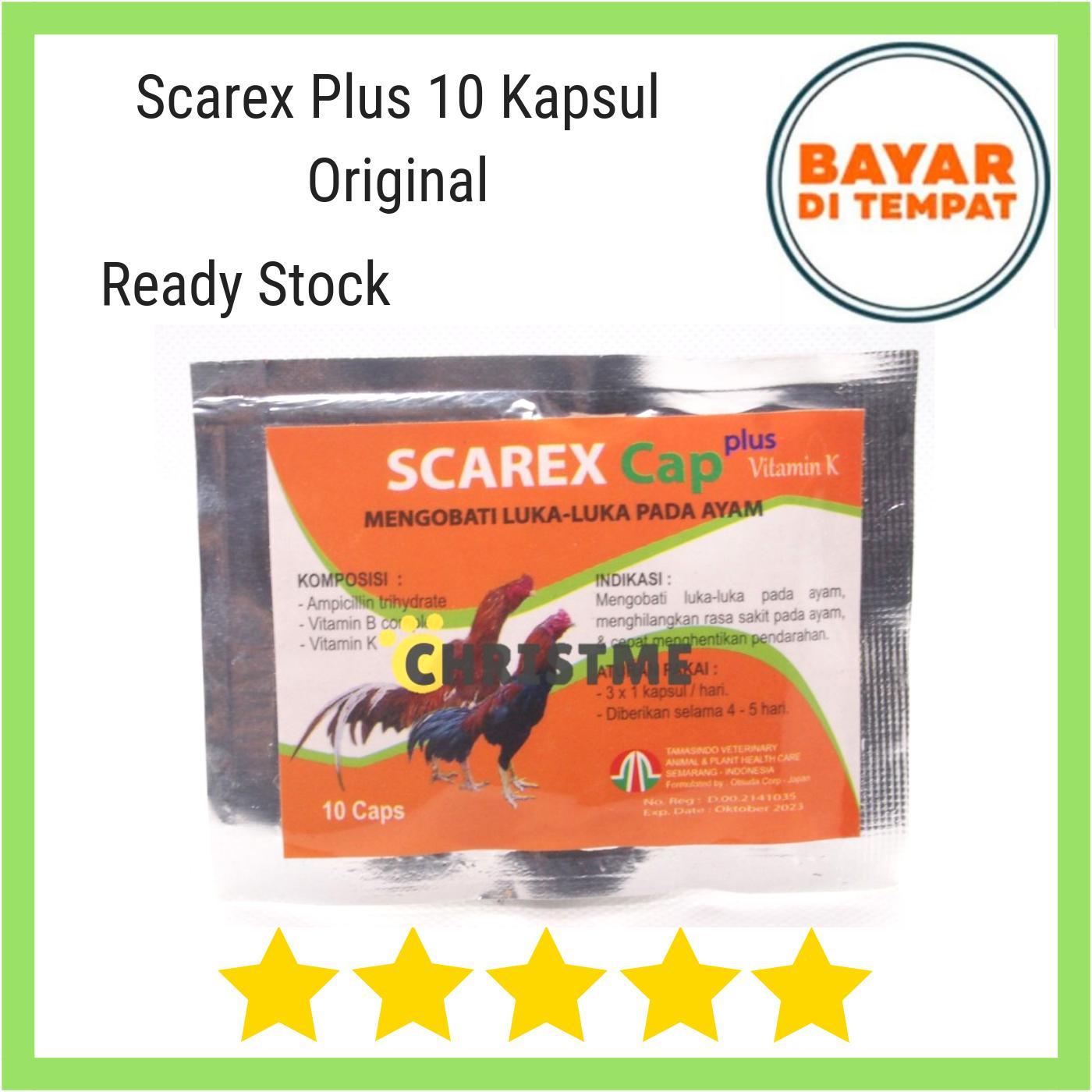 Scarex Capsul 10 Plus Vitamin K- Mengobati Luka-Luka Pada Ayam Aduan