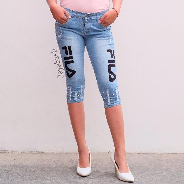 Jhf - jeans wanita 7/8 FL - terbaru - mutiara
