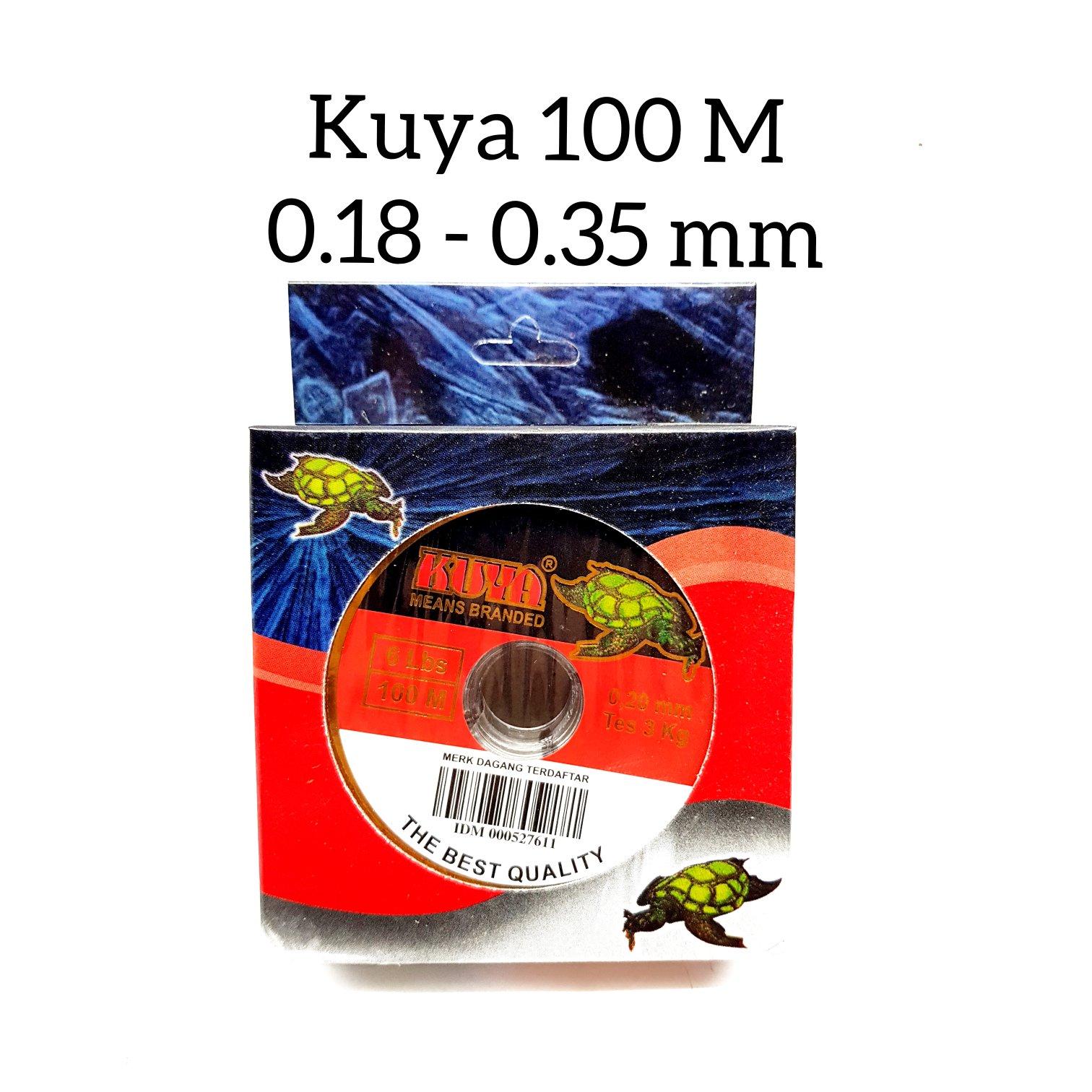 senar pancing kuya 100 meter 018-035 mm