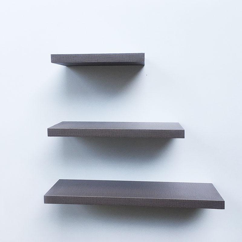 [cod] 3 buah floating shelves / ambalan / rak dinding minimalis motif tekstur elegan [ 40/30/20 cm ]