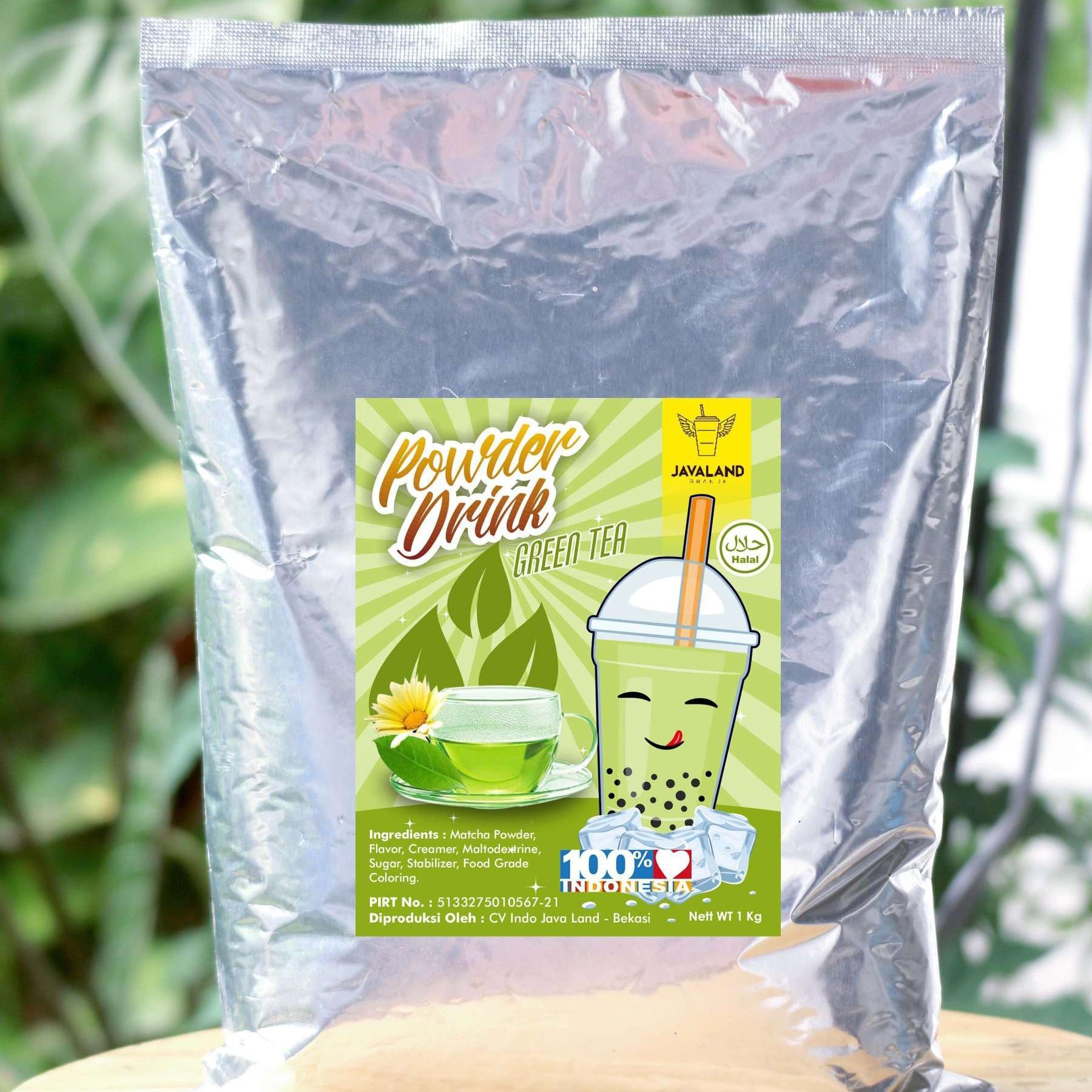 BUBUK MINUMAN BUBBLE DRINK RASA GREEN TEA