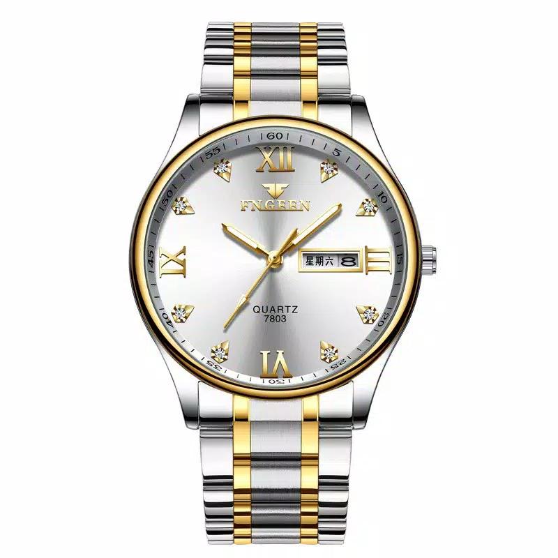 cod jam tangan pria fngeen 7803 jam tangan kasual pria rantai ori  2020 jam tangan laki2  mewah import anti air