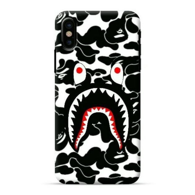 Features Bape Shark Case Oppo F9 F7 F5 F3 F1s A3s A37 Vivo V11 V9 V5