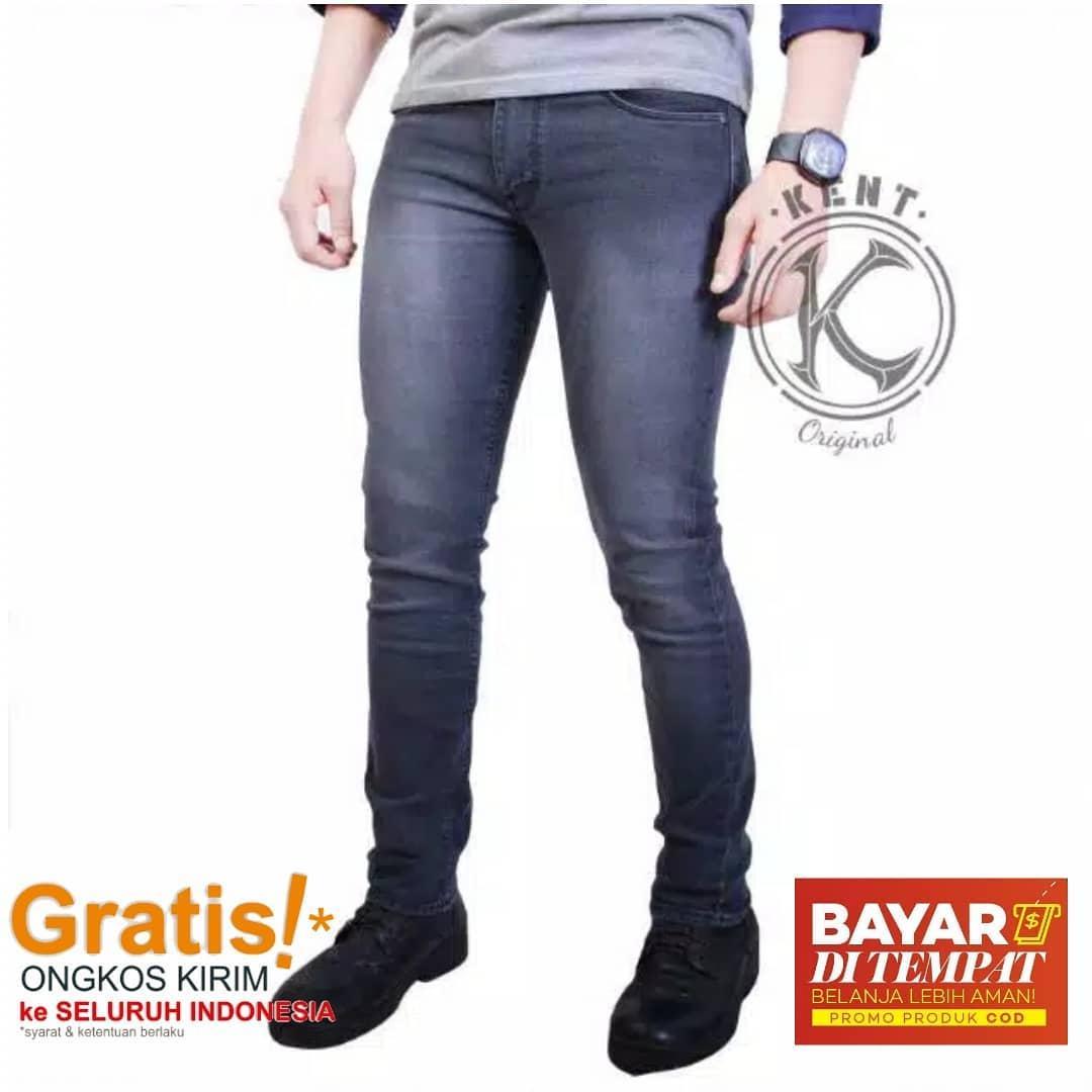 celana panjang jeans original kent darkgrey