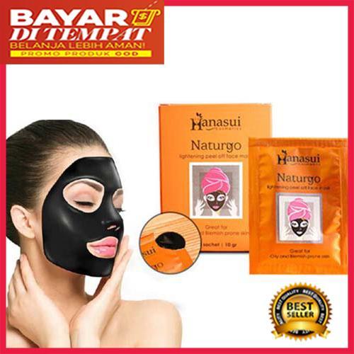 Masker Wajah Pembersih Komedo - Hanasui Naturgo Masker Lumpur 1 Box 100% Original BPOM -