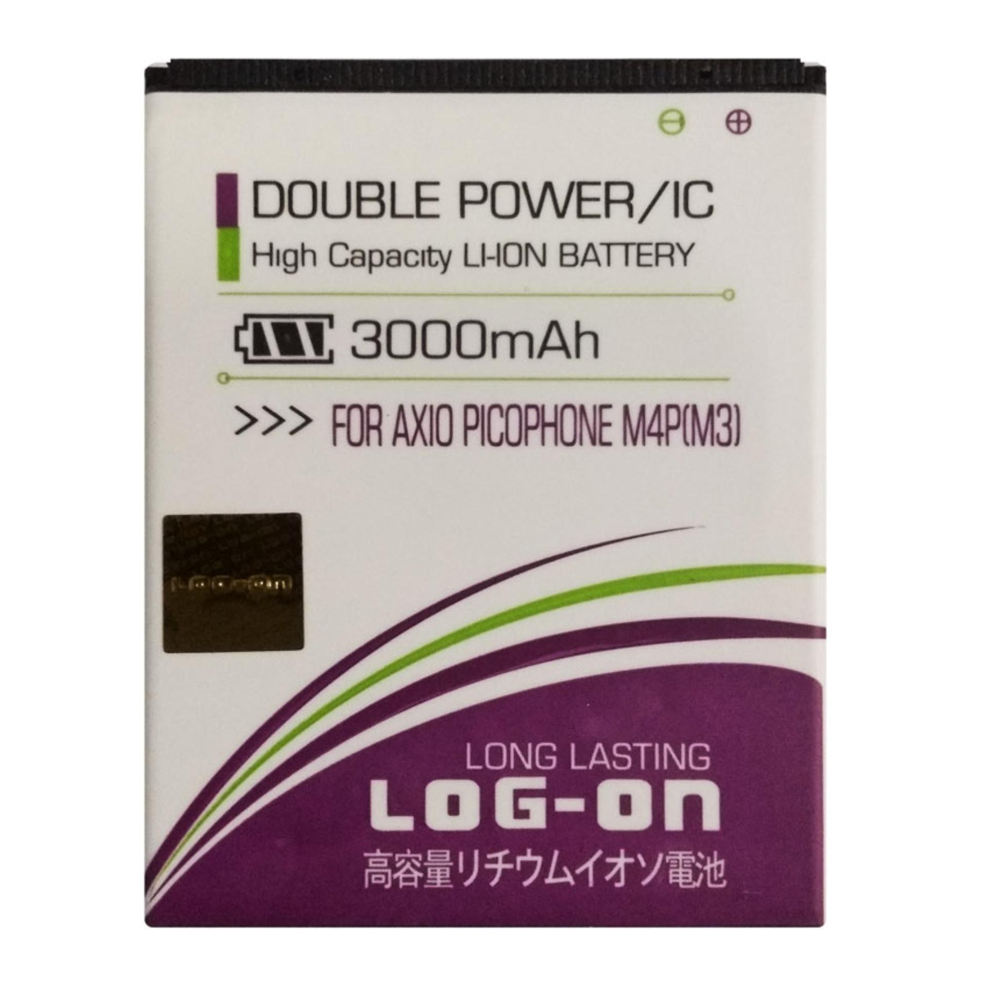 Log On Baterai Axioo Picophone M4p (M3) - Double Power Battery - 3000 mAh