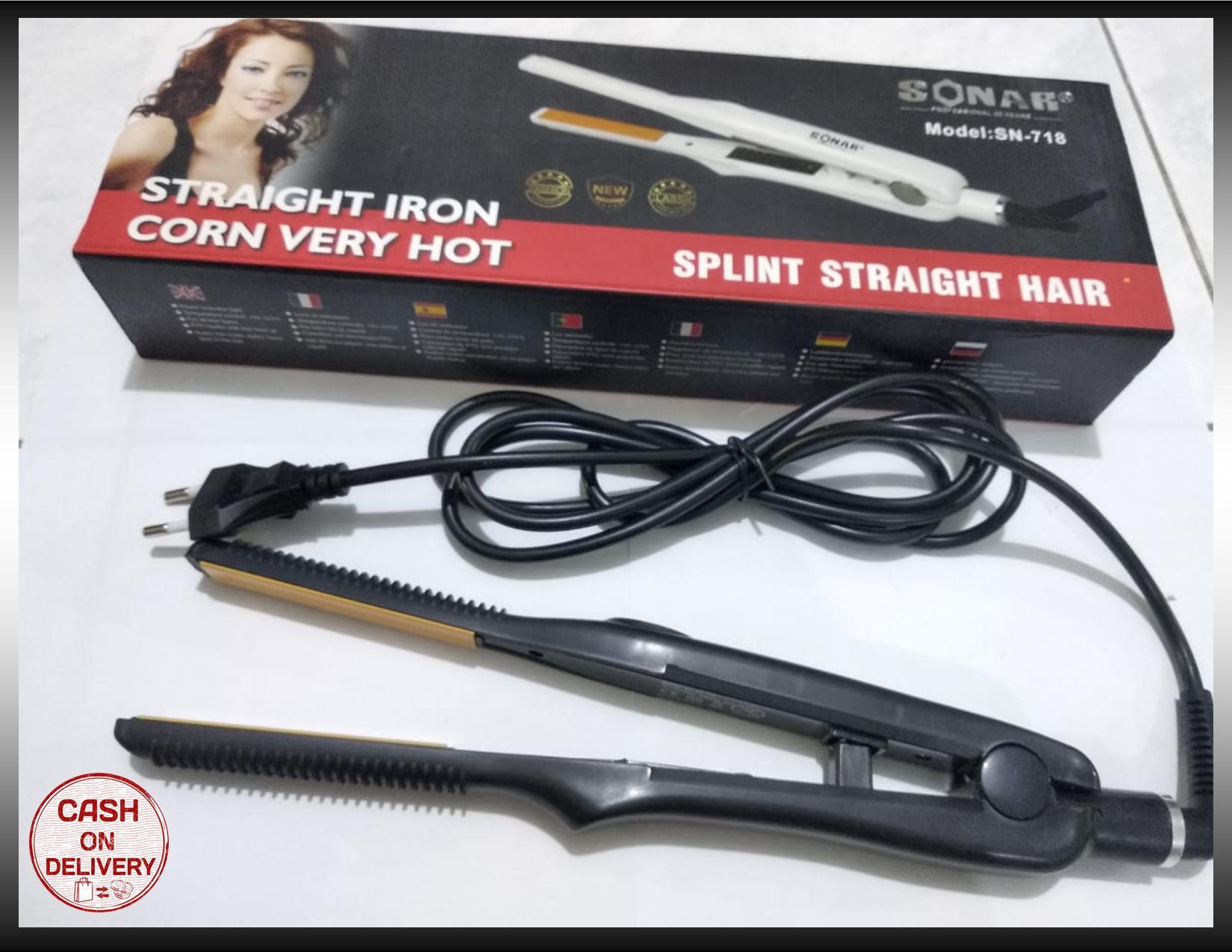kado unik– catokan rambut lurus sonar sn-718 / pelurus rambut profesional / catok sonar berkualitas / catok rambut sonar  / catok rambut salon smothing