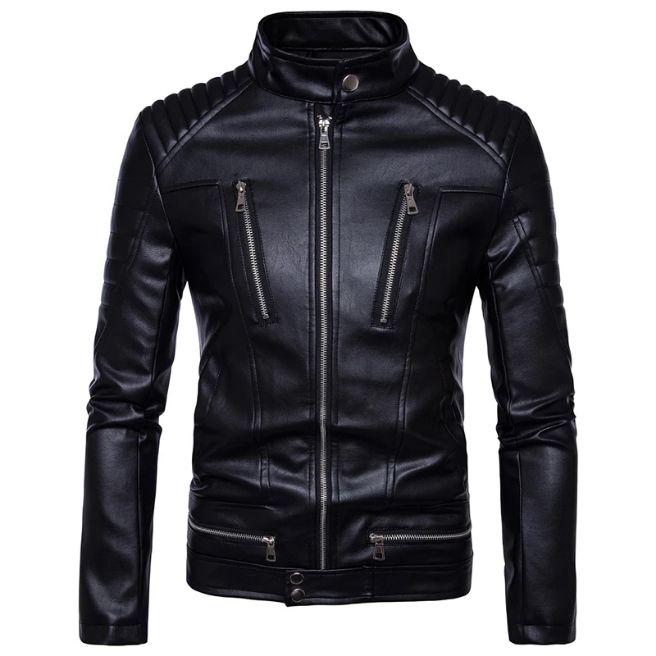 jaket semi kulit pria rege/jaket kulit pria