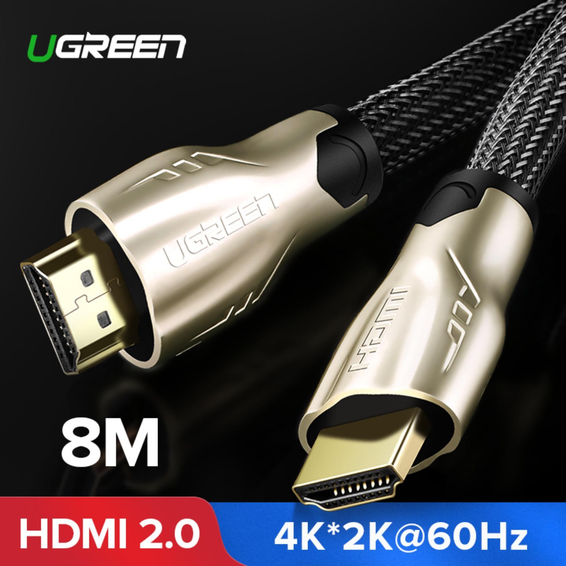 UGREEN HDMI Kabel Nilon Tenun dengan Paduan Seng Logam Konektor Dukungan 3D 4 K X 2 K