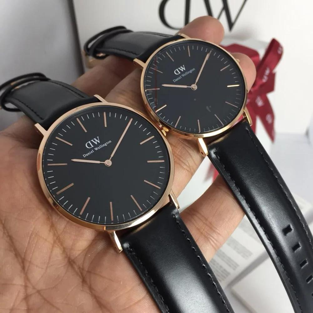 Detail Gambar Jam Tangan DW Daniel Wellington Couple Classic Black Sheffield Rosegold 36mm & 40mm Original