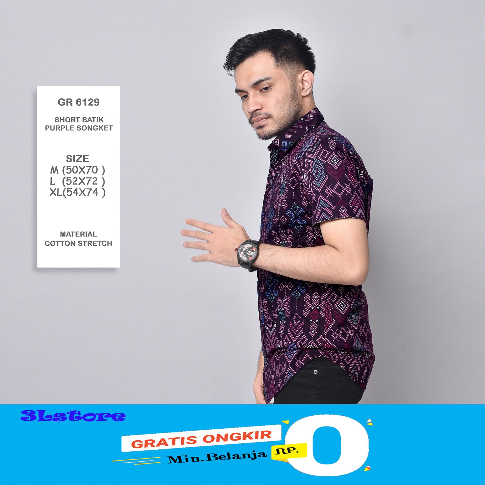 kemeja batik pria lengan pendek exclusive kemeja batik cowok kerja kantor kemeja batik formal kemeja batik kemeja printing kemeja cowo kemja import 3lstore 1130