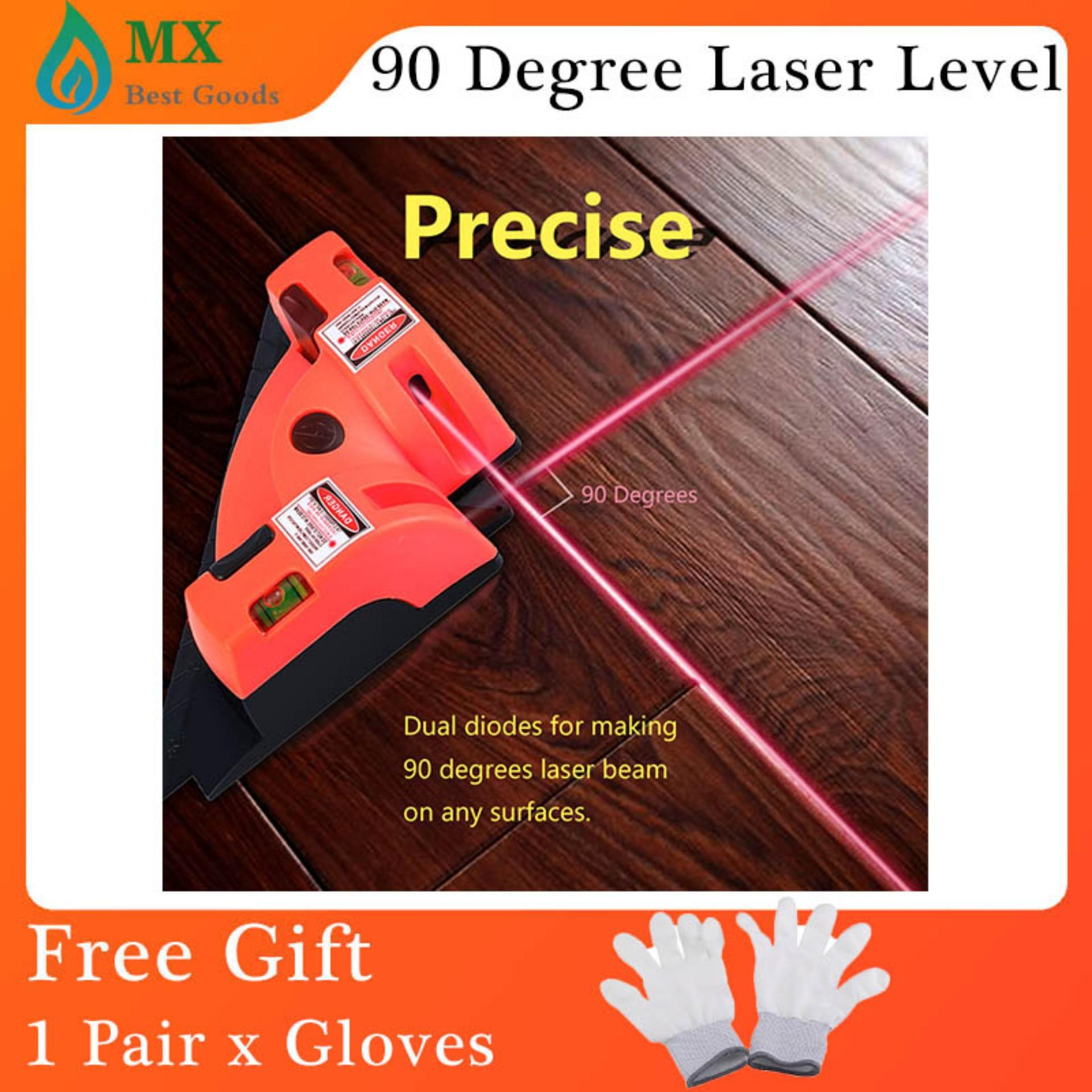 [free gift]90 Degree Right Angle Vertical Horizontal Laser Line Projection Level Alignment Tool