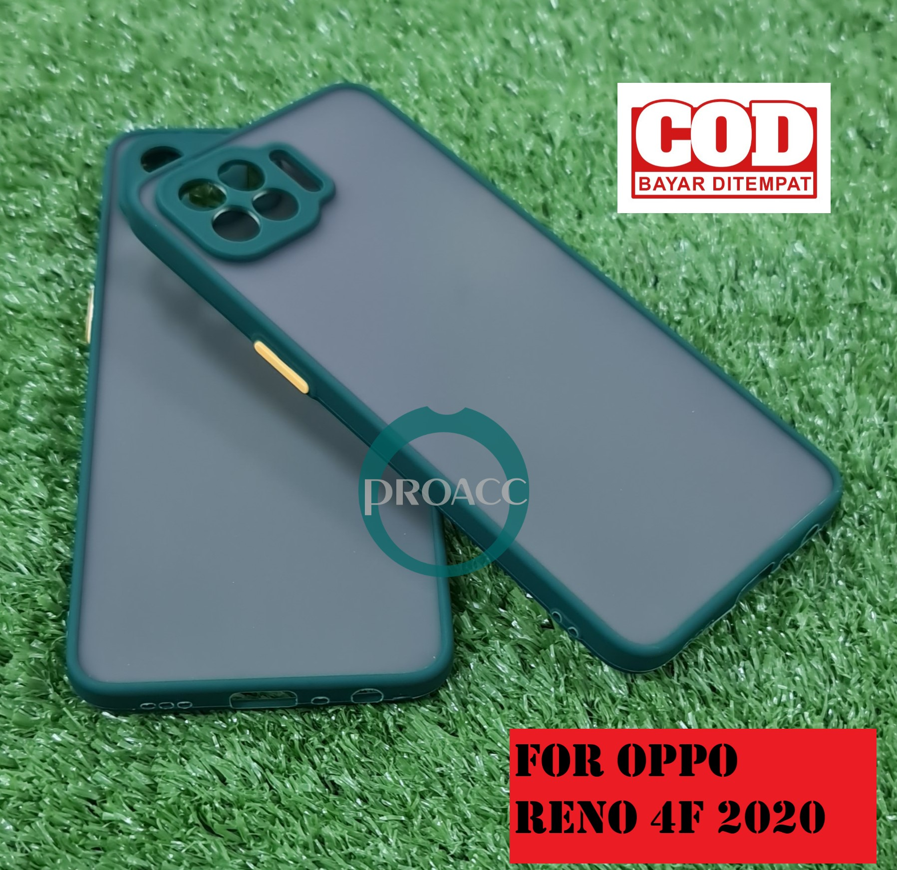 Case hp Matte doft for OPPO RENO 4F Premium cover hp PELINDUNG KAMERA High Quality Bumper Aero Back Casing handphone